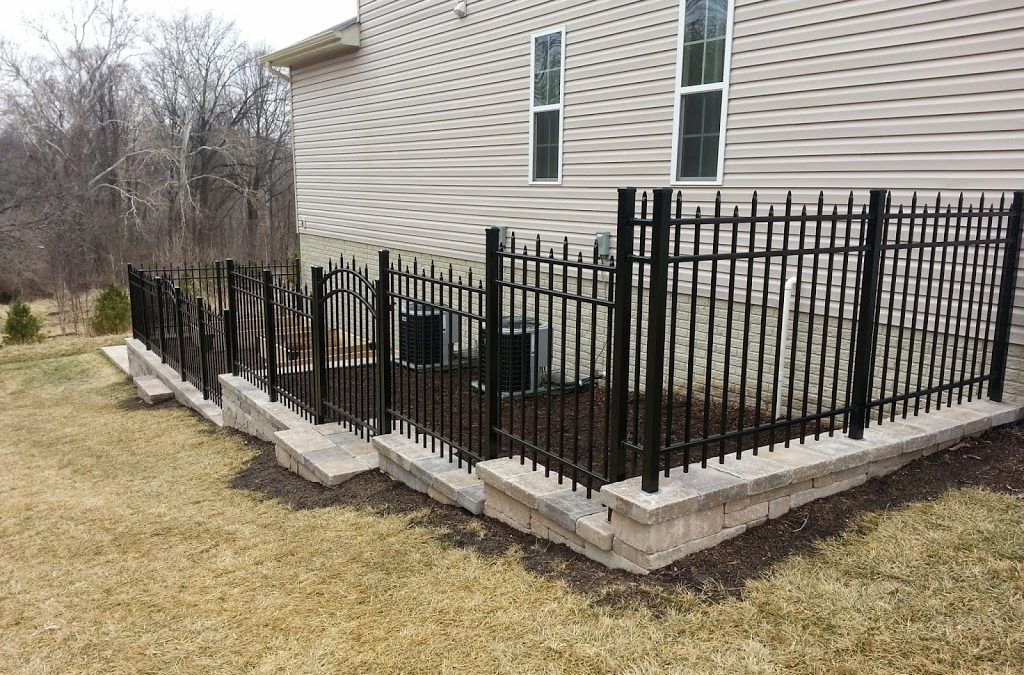 Garden Walls with Deer Fence