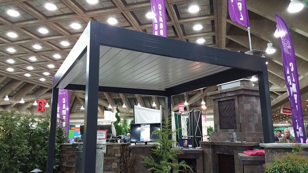 NEW 2016!  Remote Controlled Louvered Shade Pergola